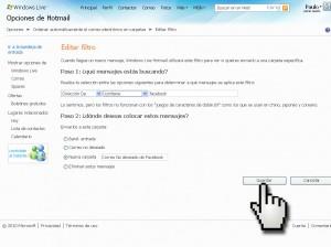 filtrar correos