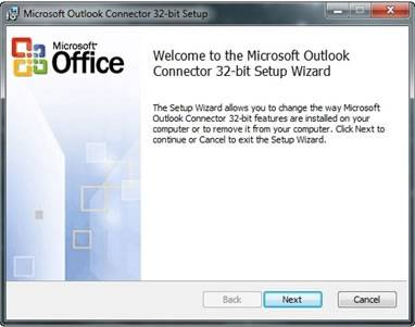 Microsoft Outlook Connector office 2010