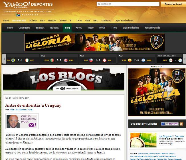 yahoo deportes blog