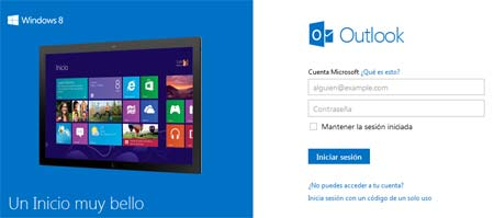 outlook y windows 8